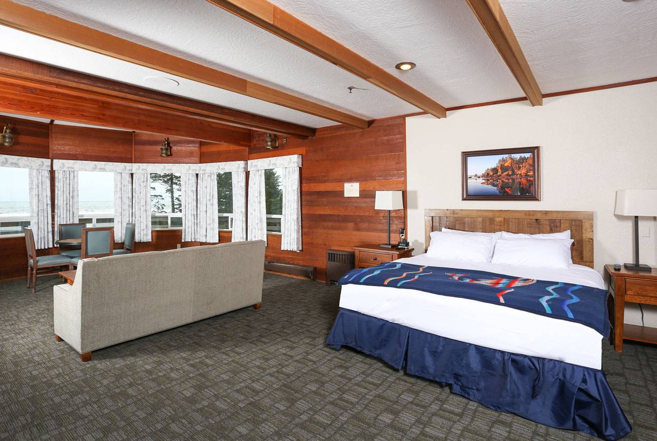 Enjoy a spacious room in the main Kalaloch Lodge for comfort and convenience.