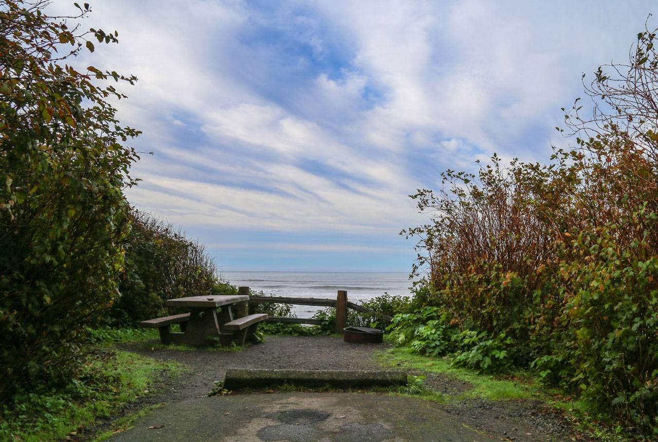Enjoy a group campsite just a quarter-mile south of Kalaloch's Main Lodge perched on the bluff overlooking the ocean.