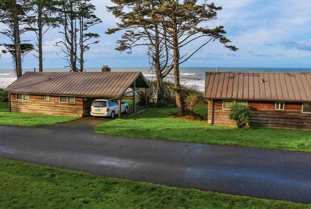 The Macy cabin and Overley cabin are two of our most popular units, with outstanding ocean views.