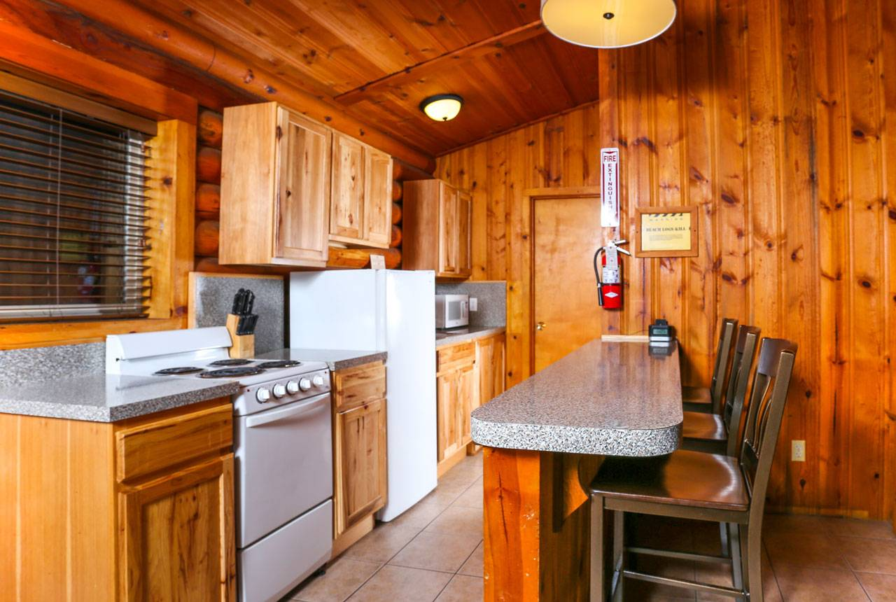 Enjoy space to cook and eat in the duplex cabins at Kalaloch Lodge.