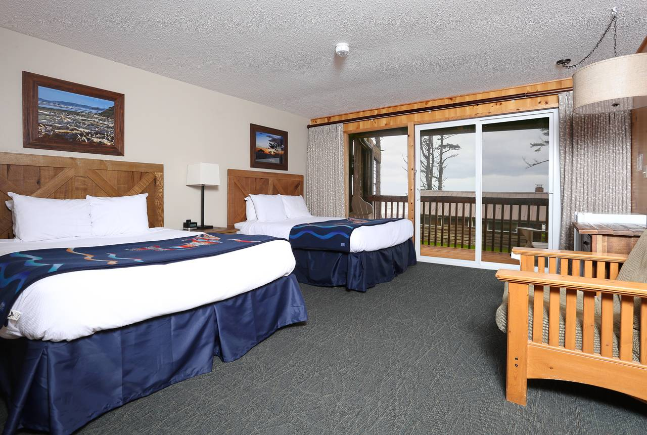 Enjoy a comfortable studio room in the Seacrest House.