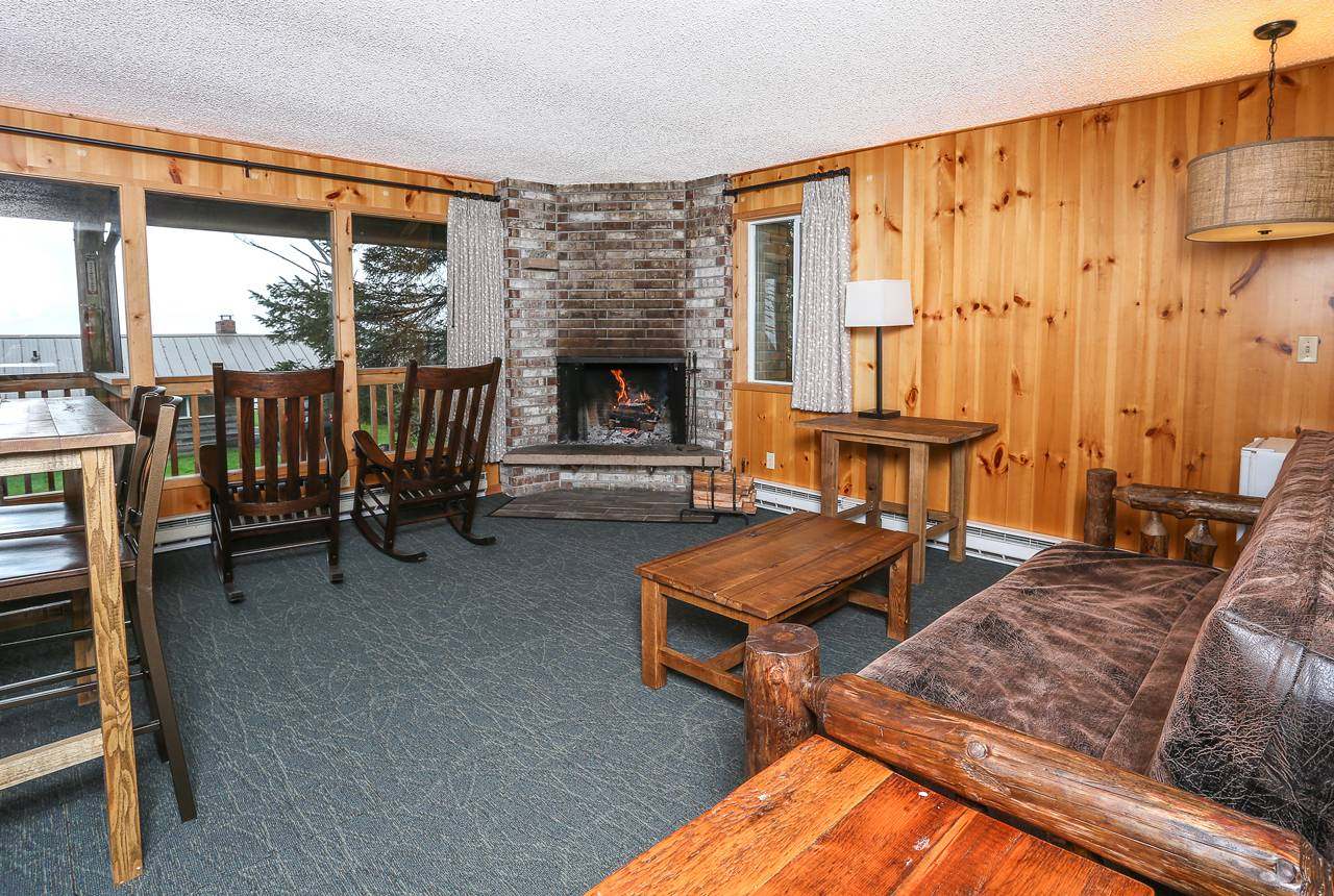 This Seacrest House suite allows you to spread out and enjoy a fire in the fireplace.