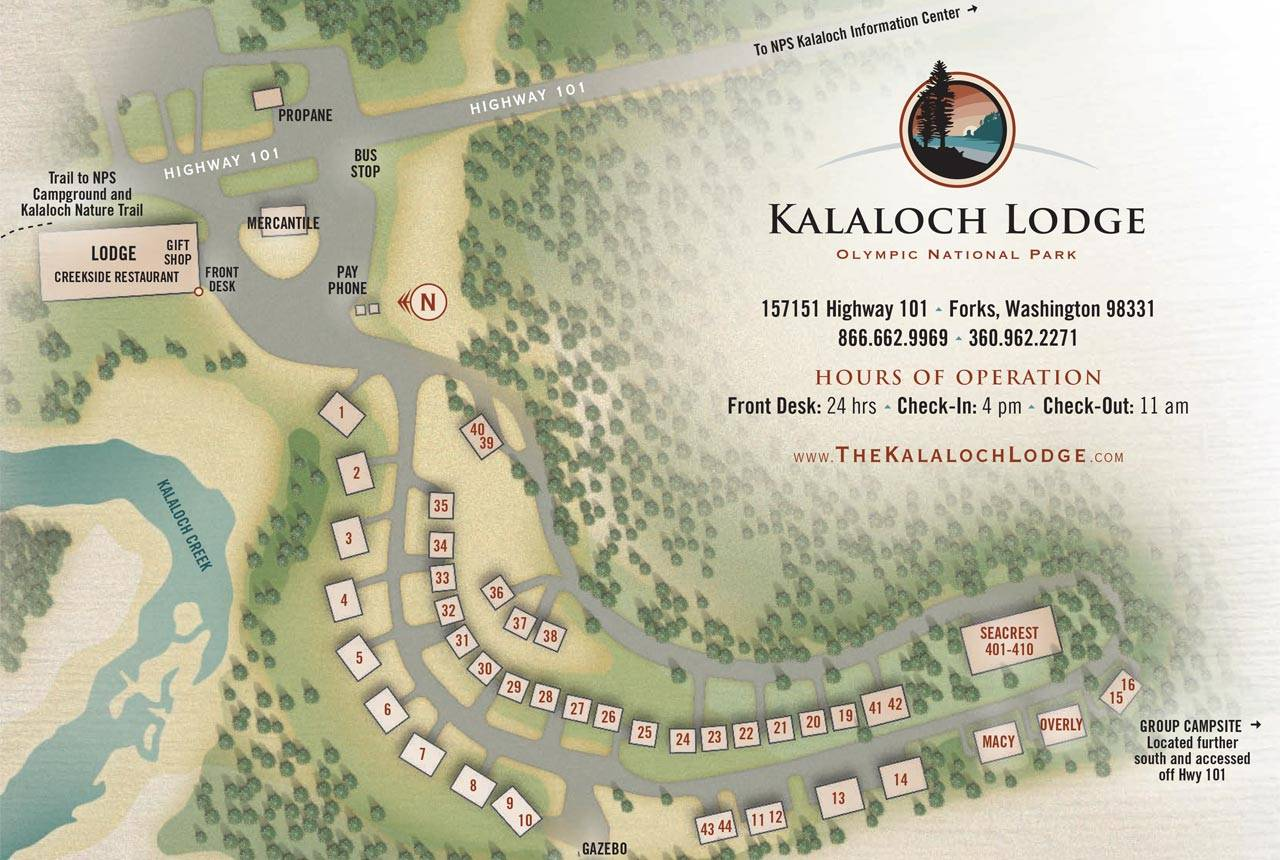 Map Of Kalaloch Lodge Property