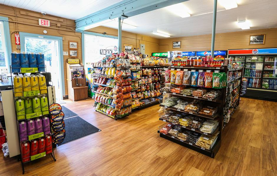 Buy groceries and supplies, including camping gear, at The Mercantile at Kalaloch Lodge.