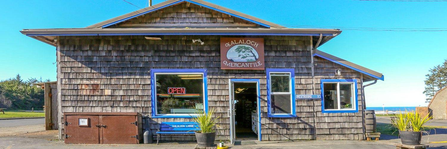 Buy groceries and supplies at The Mercantile at Kalaloch Lodge.