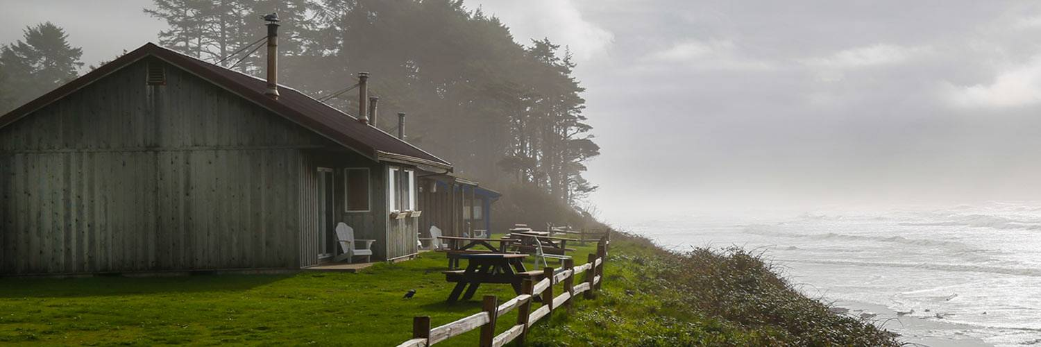 Brave the storm in your room at Kalaloch Lodge
