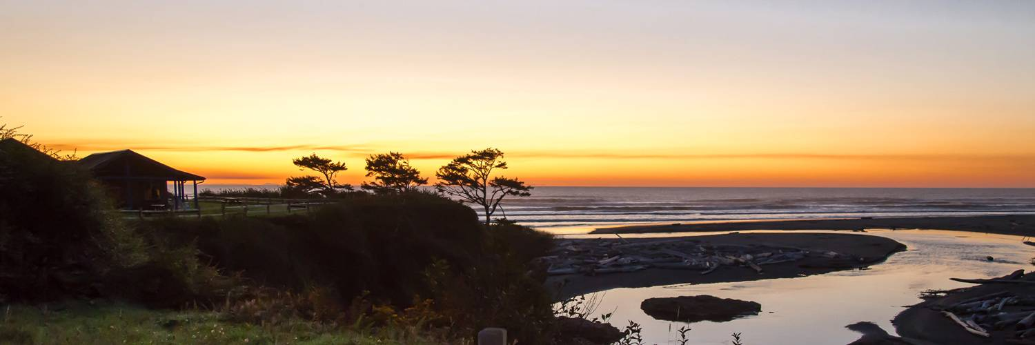 Enjoy a sunset view of Kalaloch Creek and the ocean right from Kalaloch Lodge.