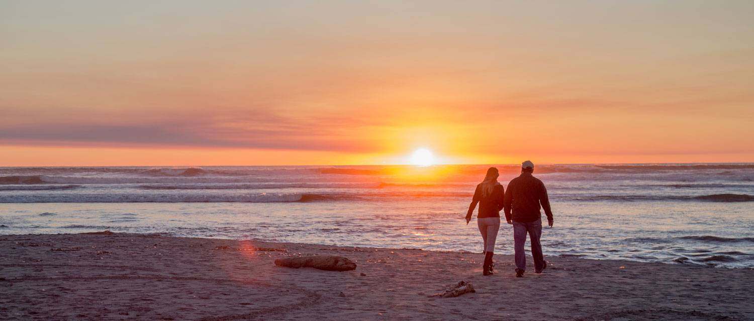 Sunsets over the ocean at Kalaloch Lodge can't be beat. Enjoy a walk on the beach as the sun goes down.