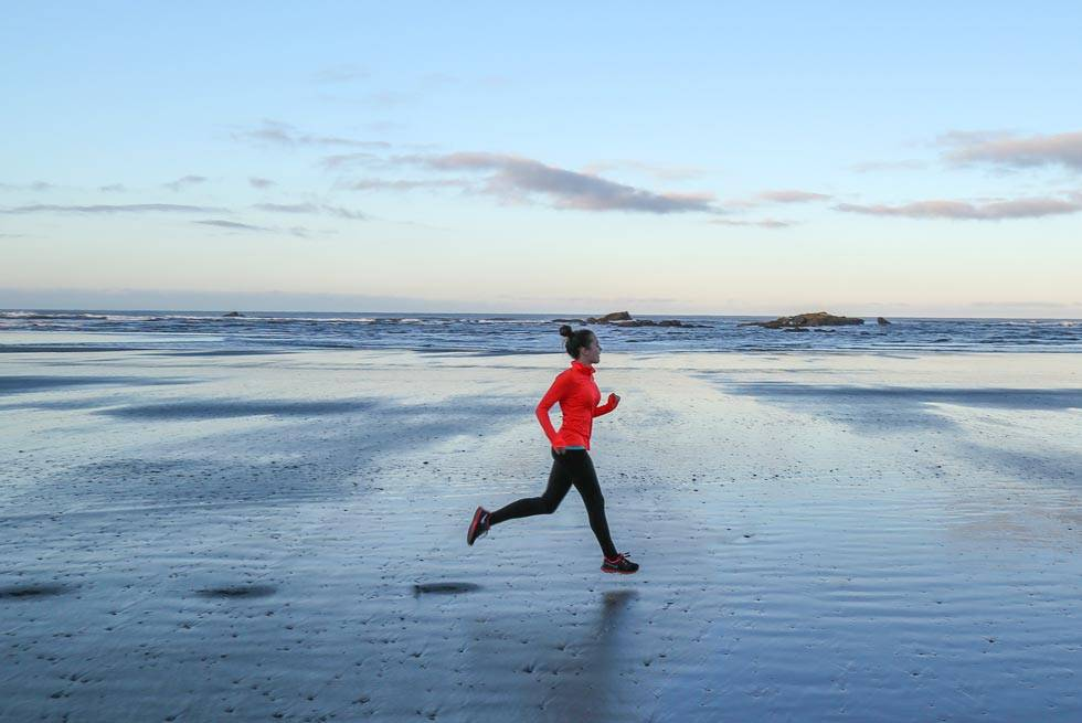 Kalaloch Beach's smooth sand make for great morning runs just steps from Kalaloch Lodge.