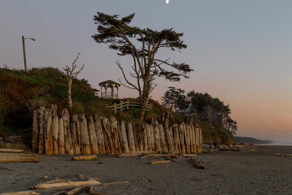 Take beautiful sunset photos just steps from Kalaloch Lodge on the beach.