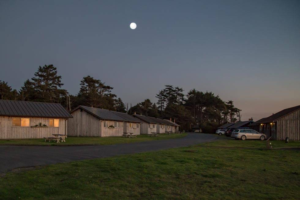 Settle into a comfortable cabin at Kalaloch Lodge for the evening.