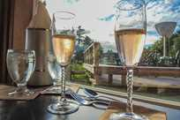 The Creekside Restaurant at Kalaloch is a great place to relax with some champagne & enjoy dinner.