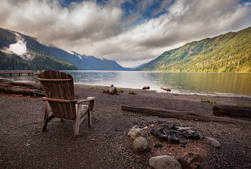 Enjoy the view at Lake Crescent on the way to Kalaloch Lodge.