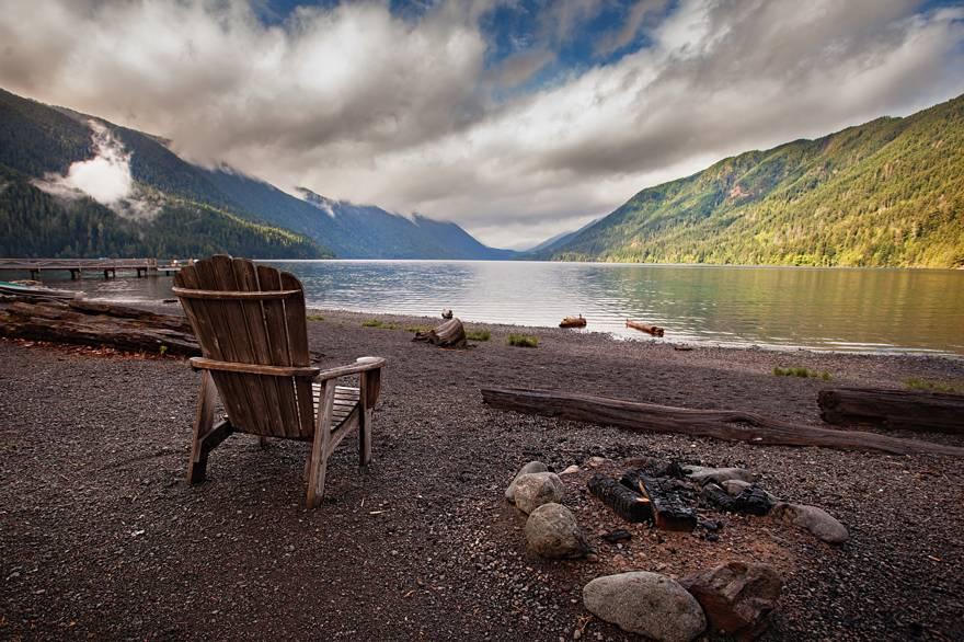 Olympic National Park has so much to offer. Stop by Lake Crescent on your way to Kalaloch Lodge.