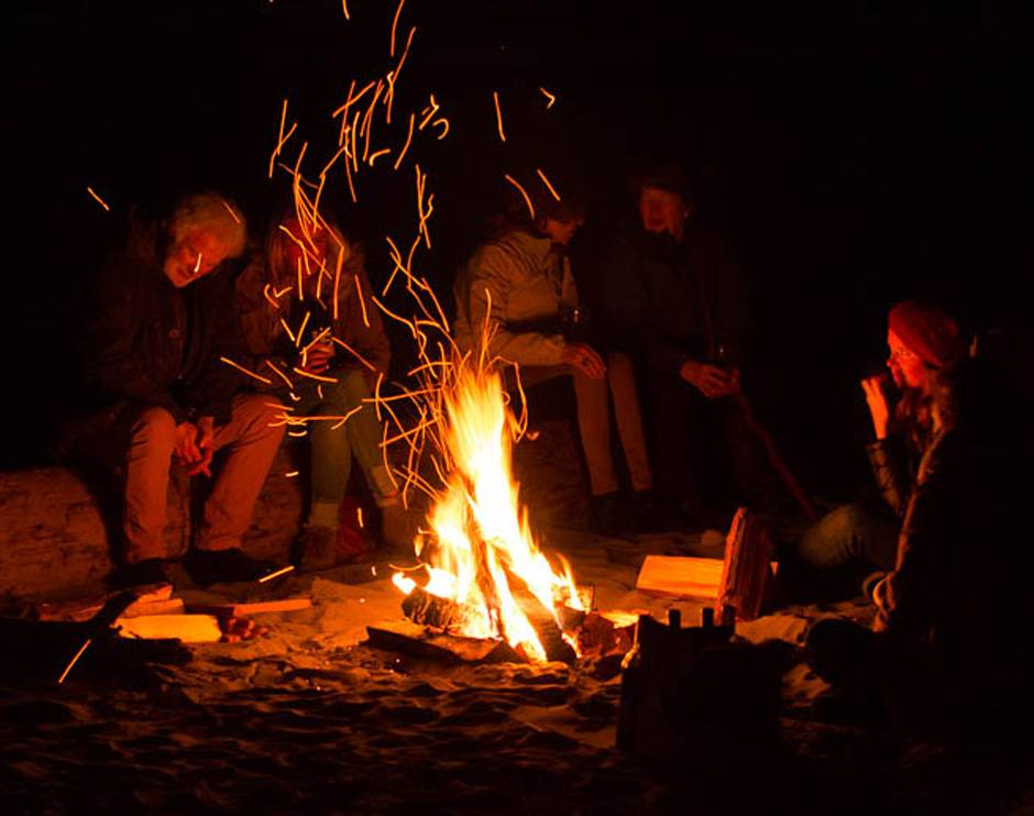 Set up a campfire on the beach for your event at Kalaloch Lodge.